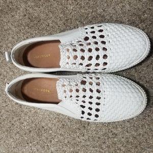 Halogen Baylee White Slip On Platform Sneakers